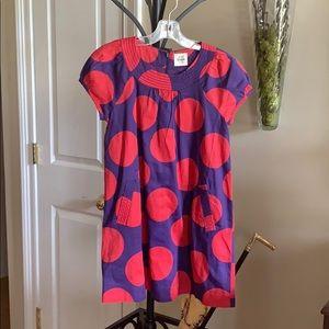 Mini Boden Large Polka Dress NWOT 7 8y
